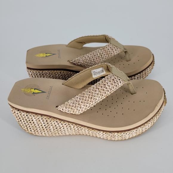 Volatile bahama wedge flip flop sandals 7